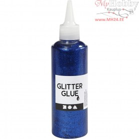 Glitter Glue, dark blue, 118ml