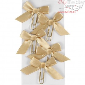 Metal Paperclips, gold, size 40x70 mm, 5pcs