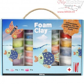 Foam Clay® Set, asstd colours, 1set