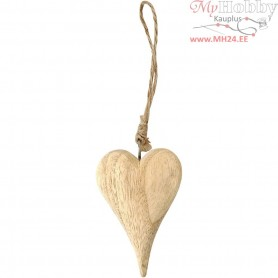 Heart, basic, H: 9,5 cm, thickness 15 mm, 1pc