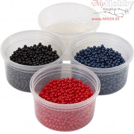 Pearl Clay®,  3x25 g,  38 g, blue, red, black, 1set