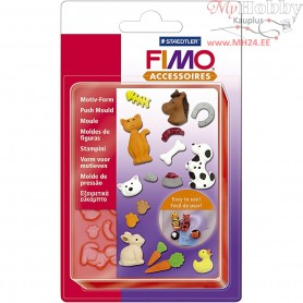 FIMO push mould, D: 7 cm, pets, 1pc