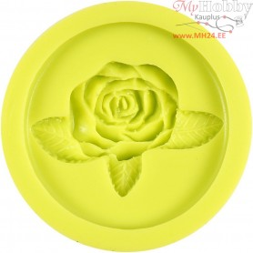 Silicone Mould, size 35x50 mm, rose, 1pc