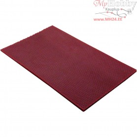 Beeswax Sheets, size 20x33 cm, thickness 2 mm, claret, 1pc