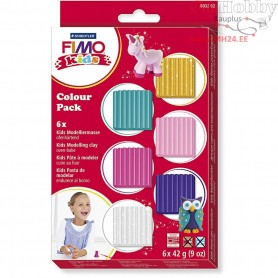 FIMO® Kids Clay, additional colours, 6x42g