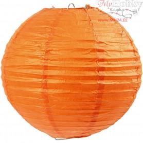 Paper Lamp, D: 20 cm, orange, 1pc