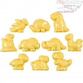 Casting Mould, size 4,5-6 cm, jurassic valley, 10mixed