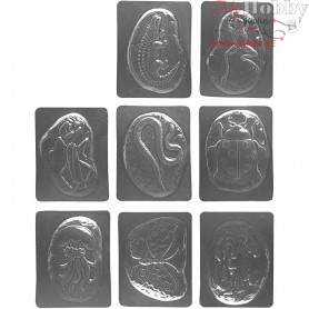 Casting Mould, size 8x6 cm, 27mixed