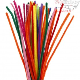 Pipe Cleaners, thickness 6 mm, L: 30 cm, asstd colours, 50mixed