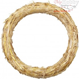 Straw Wreath, D: 27 cm, thickness 3 cm, 1pc