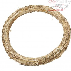 Straw Wreath, D: 35 cm, thickness 3 cm, 1pc