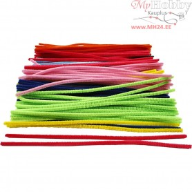Pipe Cleaners, thickness 6 mm, L: 30 cm, asstd colours, 200mixed