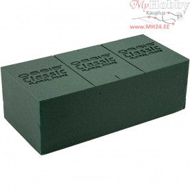 Oasis Floral Foam, size 23x11x8 cm, green, 1pc