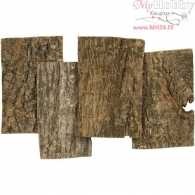 Bark Plates, size 9,5x6,5 cm, thickness 1-4 mm, 340g