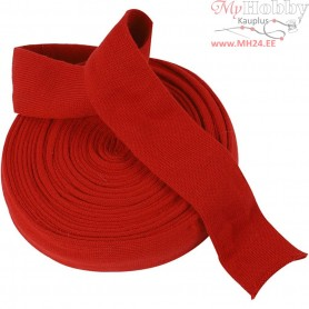 Knitted Tube, W: 60 mm, christmas red, 10m