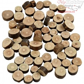 Wood Mix, D: 10-15 mm, thickness 5 mm, 230g