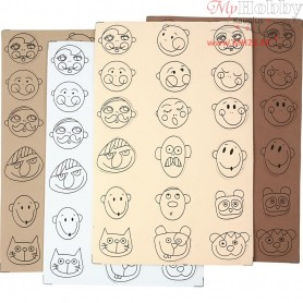 EVA foam faces, D: 30-40 mm, thickness 2 mm, 72mixed