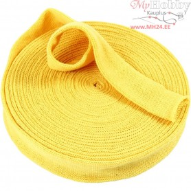 Knitted Tube, W: 40 mm, yellow, 10m
