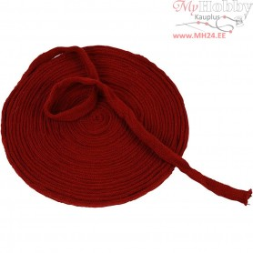 Knitted Tube, W: 15 mm, antique red, 10m