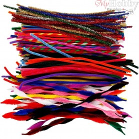 Pipe Cleaners, thickness 4-6 mm, L: 30,5 cm, 250mixed