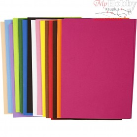 EVA Foam Sheets, A4 21x30 cm, thickness 2 mm, 30mixed sheets