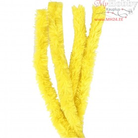 Pipe Cleaners, thickness 30 mm, L: 40 cm, yellow, 4pcs