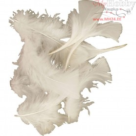 Feathers, size 7-8 cm, white, 500g