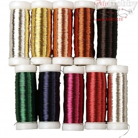 Floral Wire, thickness 0,18 mm, approx. 10x125 m, 10x50g
