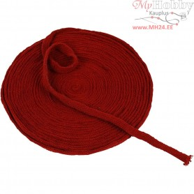 Knitted Tube, W: 10 mm, antique red, 10m