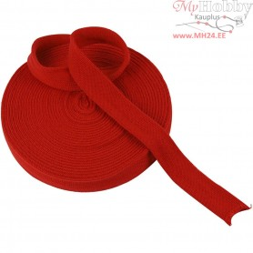 Knitted Tube, W: 30 mm, christmas red, 10m