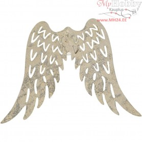 Metal Wings, H: 6 cm, W: 7,5 cm, 5pcs