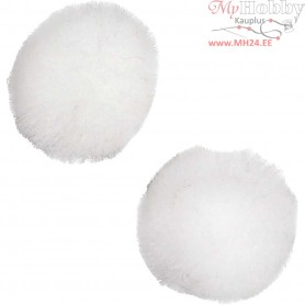 Pompoms, D: 15 mm, white, 200pcs