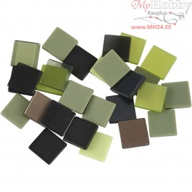Mini Mosaic, size 10x10 mm, thickness 2 mm, green harmony, 25g