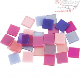 Mini Mosaic, size 10x10 mm, thickness 2 mm, purple/pink harmony, 25g