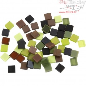 Mini Mosaic, size 5x5 mm, thickness 2 mm, green harmony, 25g