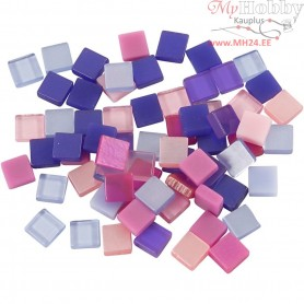 Mini Mosaic, size 5x5 mm, thickness 2 mm, purple/pink harmony, 25g