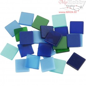 Mini Mosaic, size 10x10 mm, thickness 2 mm, blue/green harmony, 25g