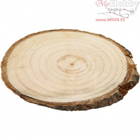 Wooden Discs, approx. 9,5x6 cm, thickness 6 mm, 12pcs
