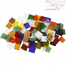 Glass Mosaic Tiles, size 10x10 mm, thickness 3 mm, 454g