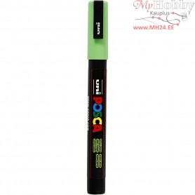 Uni Posca Marker, line width: 0,9-1,3 mm,  PC-3M , apple green, fine, 1pc