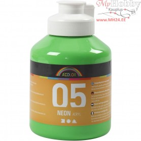 A-Color Acrylic Paint, neon green, 05 - neon, 500ml
