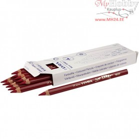 Super Ferby 1 colouring pencils, lead: 6,25 mm, L: 18 cm, dark red, 12pcs
