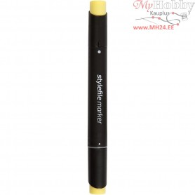 Stylefile Marker, line width: 1+2+7 mm, L: 15,3 cm, pastell yellow, 1pc