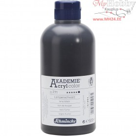Schmincke AKADEMIEĀ® Acryl color, lamp black (771), opaque, , 500ml