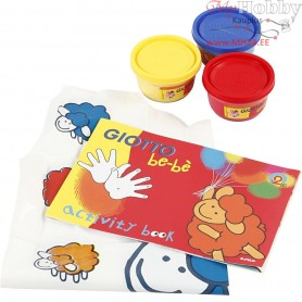 Finger Paint, blue, yellow, red, 1set
