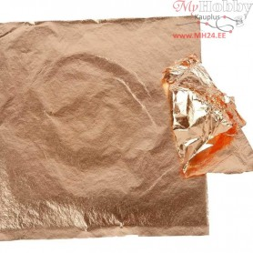 Imitation Metal Leaf, sheet 16x16 cm, copper, 25sheets