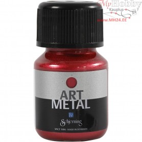 Art Metalic Paint, lava red, 30ml