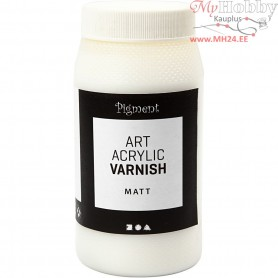 Art Acrylic Varnish, white, matt transparent, low gloss, 500ml