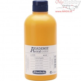 Schmincke AKADEMIEĀ® Acryl color, indian yellow (226), transparent, fade resistant, 500ml