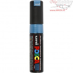 Uni Posca Marker, line width: 8 mm,  PC-8K , metallic blue, broad, 1pc